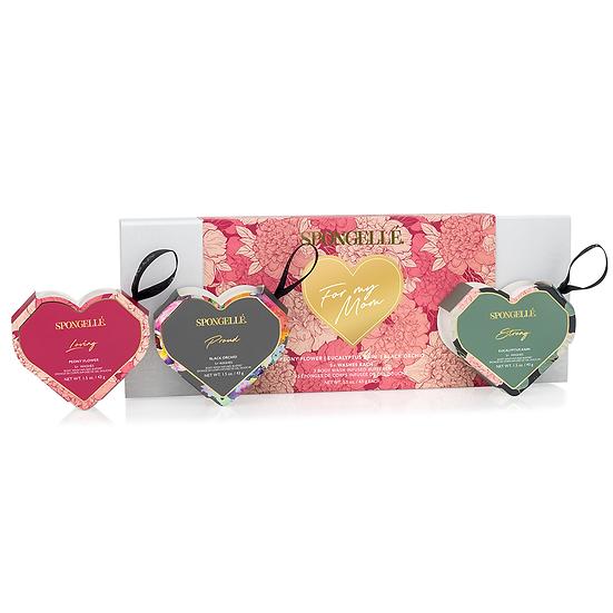 Three Hearts - Gift Set #1   Black Orchid, Eucalyptus Rain, and Peony Flower