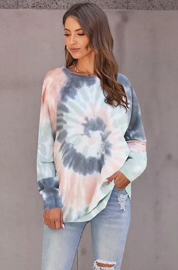 Sprial Tie Dye Pullover