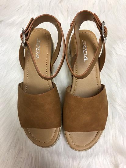 Vacay Tan Platform Sandals