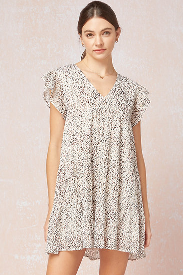 On The Hunt Off White Leopard Dress