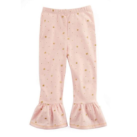 Pink Sparkle Ruffle Leggings (Mudpie)