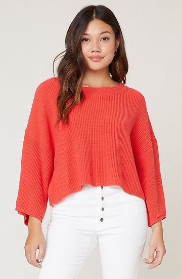 Dibs On That Sweater - Coral