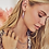 Thumbnail: Natalie Silver Drop Earrings In Purple Amethyst