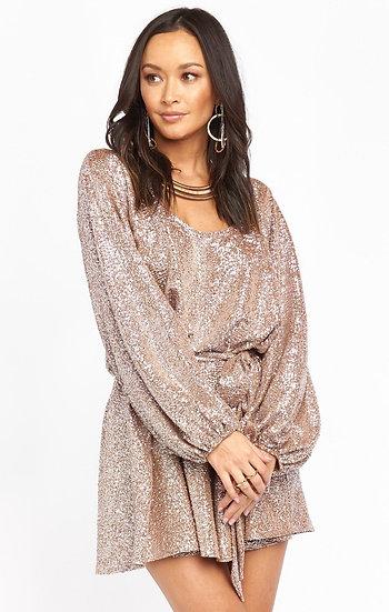Liv Mini Dress - Silver Confetti