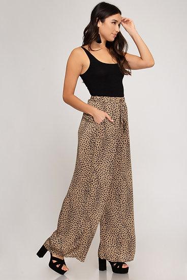 Taupe/Black Dot Pants