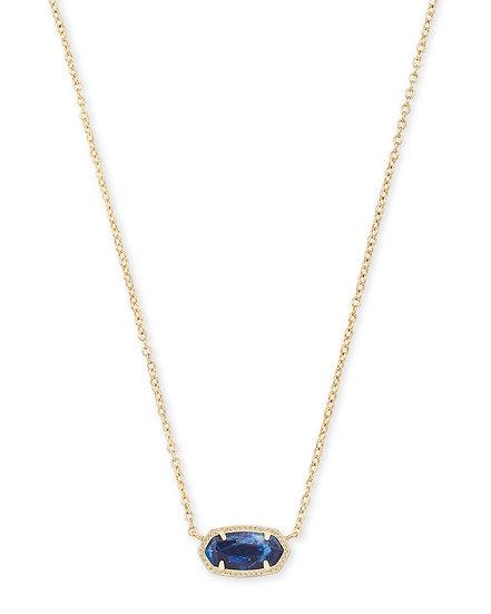 Elisa Gold Pendant Necklace In Cobalt Howlite