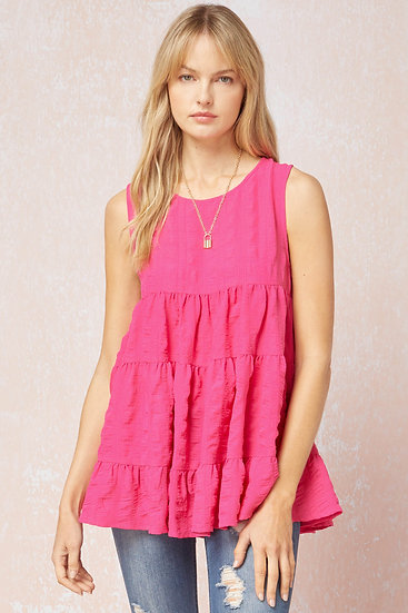Need Some Time Hot Pink Sleeveless Top