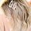 Thumbnail: Acrylic Pearl Round Gold Cream Hair Clip