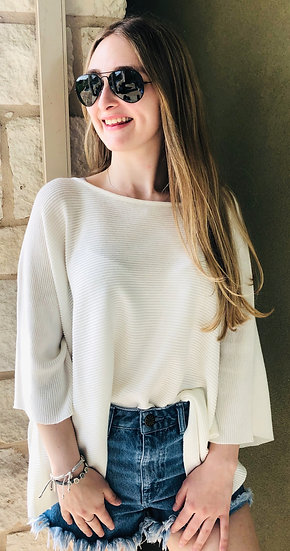 Ivory/White Knit Sweater