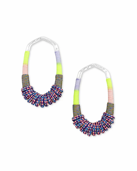 Masie Silver Open Frame Earrings In Lilac Mix Paracord 0.0 star rating Write a r