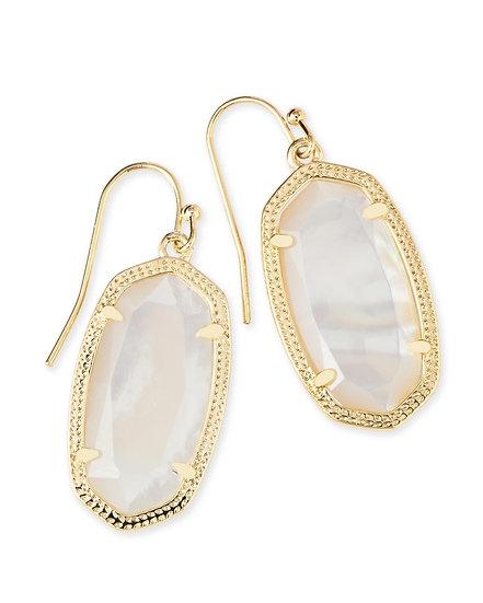 Dani Gold Drop Earrings In Ivory Pearl