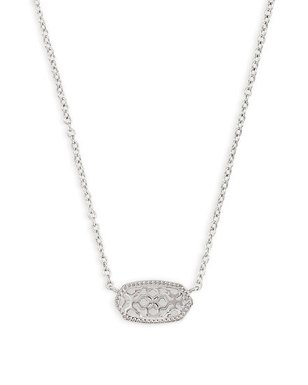 Elisa Silver Pendant Necklace In Silver Filigree