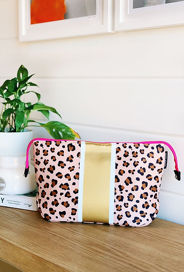 The Kimberly Leopard Neoprene Large Cosmetic