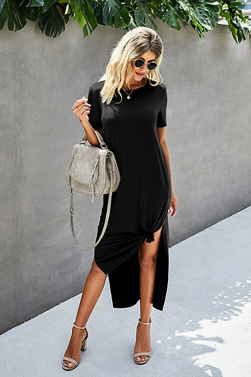 Stay Strong Black Maxi Dress