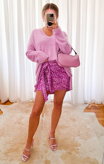 Pretty In Lilac Cozy Forever Knit Sweater  (Show Me Your Mumu)