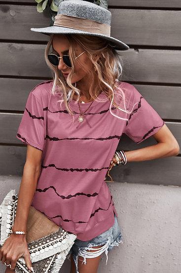 Stripe City Pink Top
