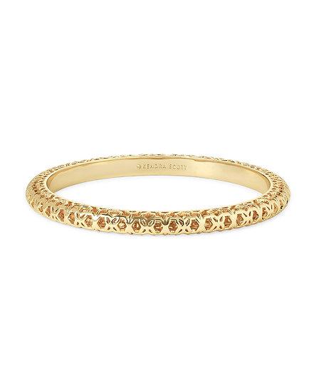 Maggie Bangle Bracelet In Gold Filigree