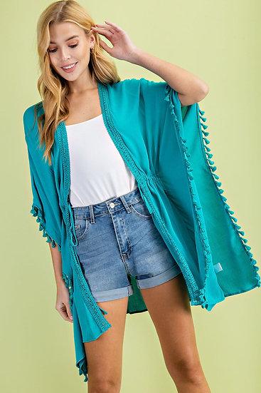 All You Can Do Turquoise Kimono
