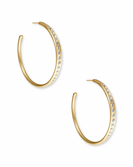 Selena Hoop Earrings In Vintage Gold
