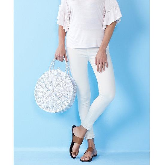 Harlyn Fringe Jeans  - White