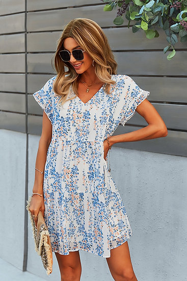 On Your Time White Floral Dress