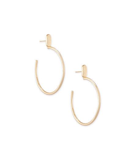 Small Pepper Hoop Earrings In Rose Gold