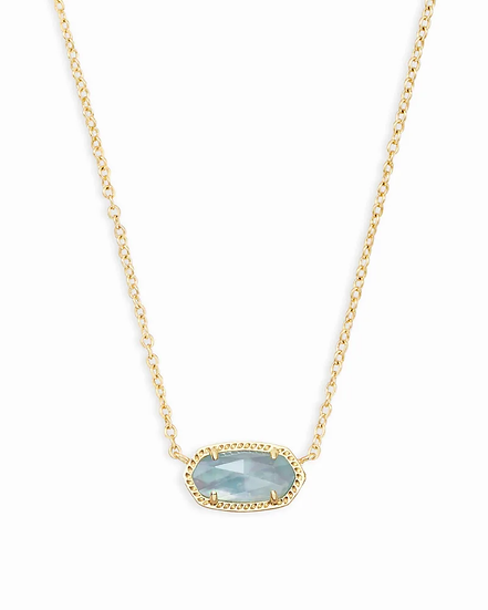 Elisa Pendant Necklace In Light Blue Illusion - MARCH