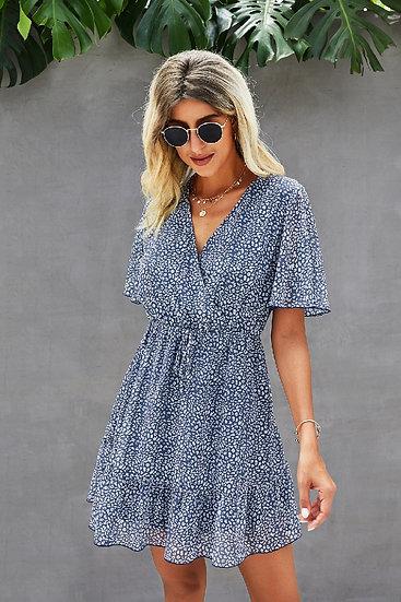 Stay Sweet Blue Floral Dress