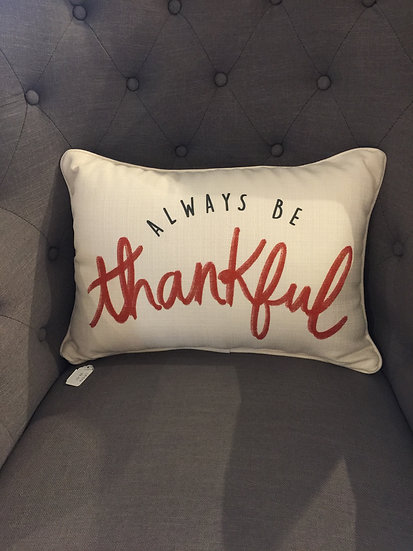 Always Be Thankful - Cheetah Pattern Back Pillow