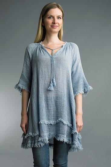 St. Barts Linen Tunic - Denim