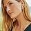 Thumbnail: Jack Gold Hoop Earrings In White Crystal
