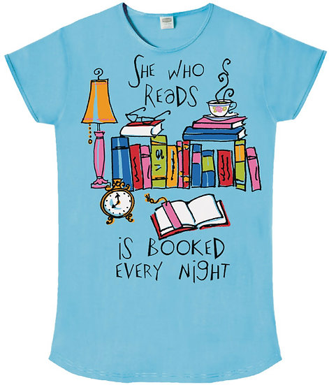 She Who Reads Is Booked Every Night Sleep Shirt