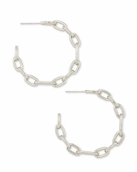Ryder Hoop Earrings In Silver