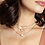 Thumbnail: Lisa Pendant Necklace In Pave Diamond And 14k White Gold