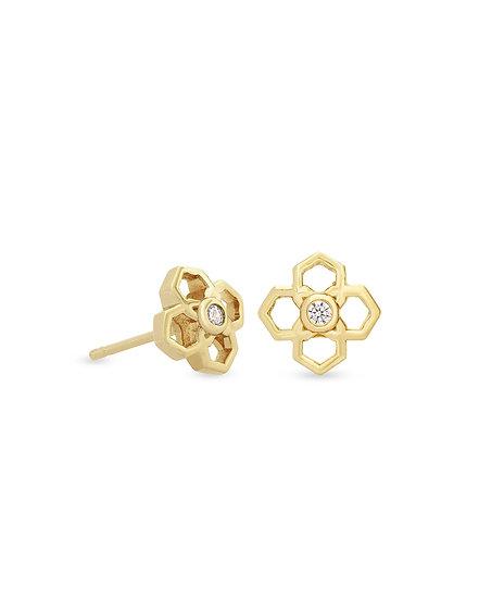 Rue Stud Earrings In Gold