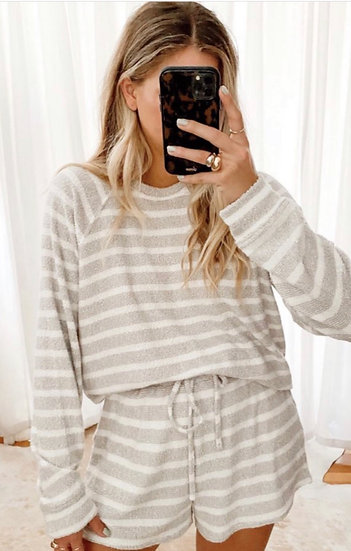 Sittin Around Set - Snuggle Stripe Knit (Show Me Your Mumu)