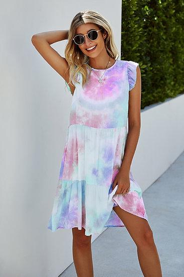 Let's Get Groovy Purple Tie Dye Dress
