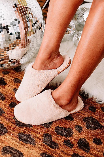 I'm Walking On Air Taupe Slippers