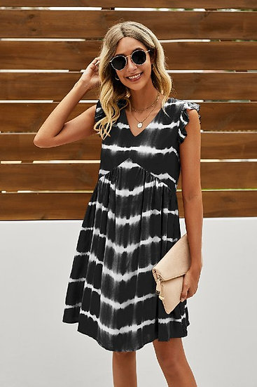 Create Your Fun Black Tie Dye Dress