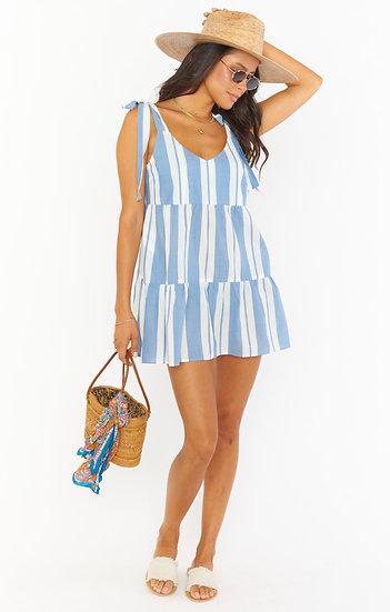 Emme Tie Dress - Sailboat Stripe