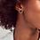 Thumbnail: Davie Vintage Gold Stud Earrings In Golden Obsidian