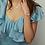 Thumbnail: Elaina Gold Adjustable Chain Bracelet In Iridescent Drusy
