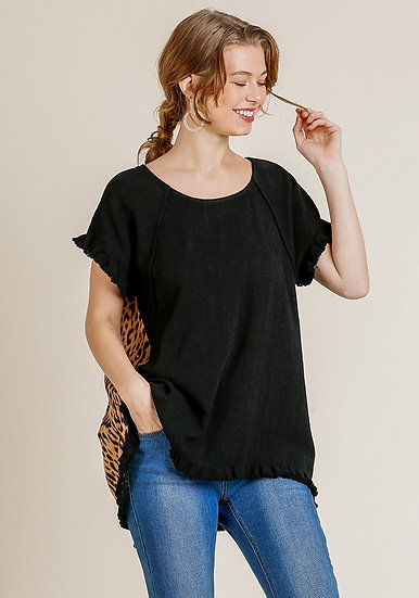 You Can Relate Leopard Top - Black