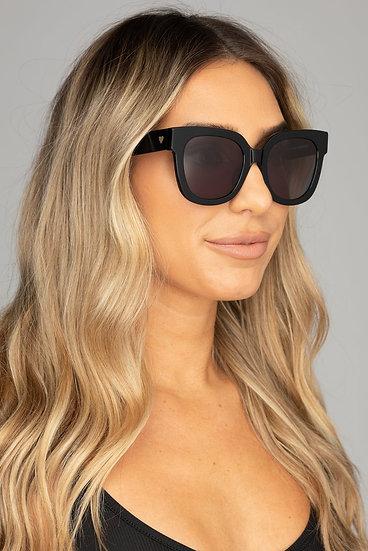 Heather Oversized Black Sunglasses (Buddy Love)