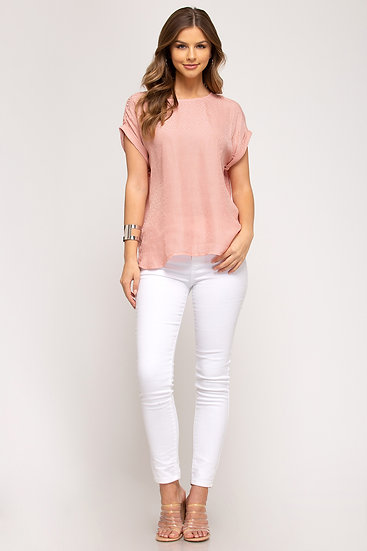 You're Too Kind Peach Blouse
