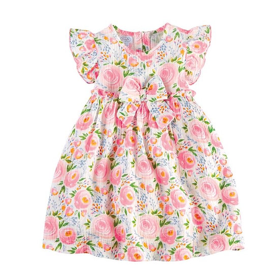 Swirl Floral Toddler Dress
