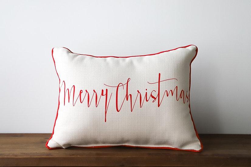 Merry Christmas - Red & White Plaid Back
