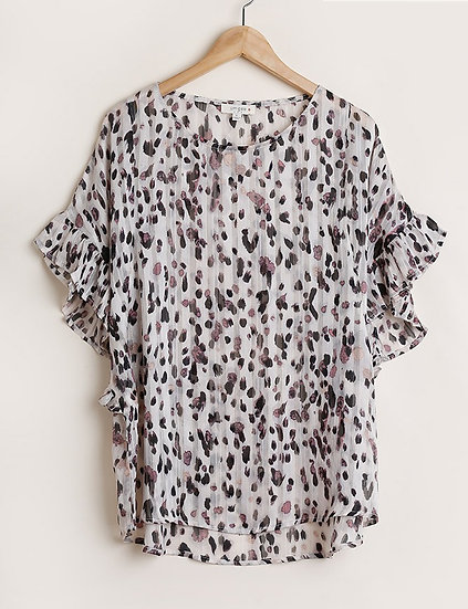 Off-White Animal Print Top