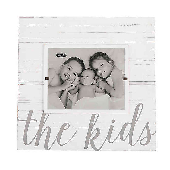 The Kids Wooden Sign With Picture Frame