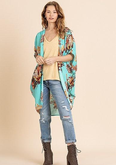 Such A Joy Mint Floral Kimono